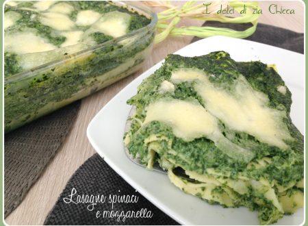 Lasagne con spinaci e mozzarella filanti