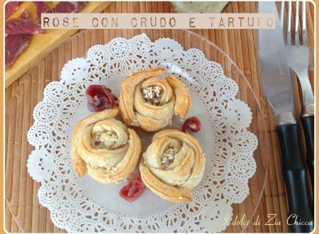 Rose sfogliate con crudo e tartufo