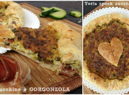 Torta con speck, zucchine e gorgonzola