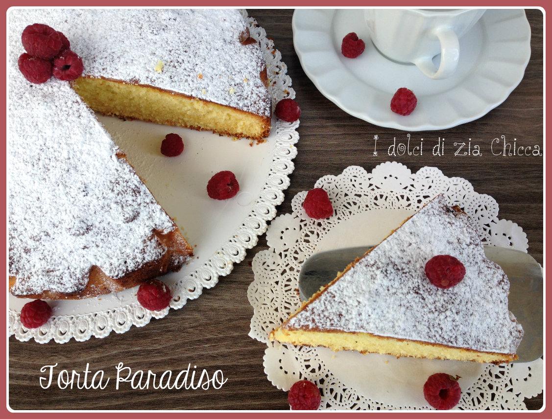 La Torta Paradiso è un dolce soffice e davvero molto semplice da preparare. E' simile al pan di spagna ma è reso un po' più goloso dall'aggiunta di burro.