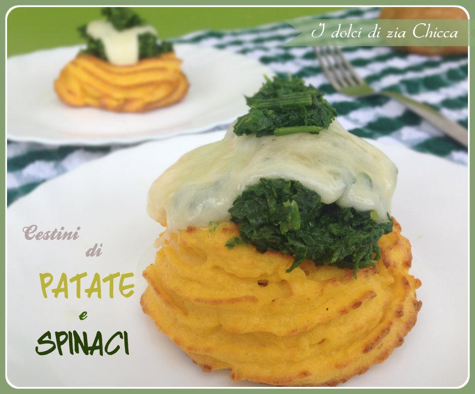 Cestini di patate e spinaci