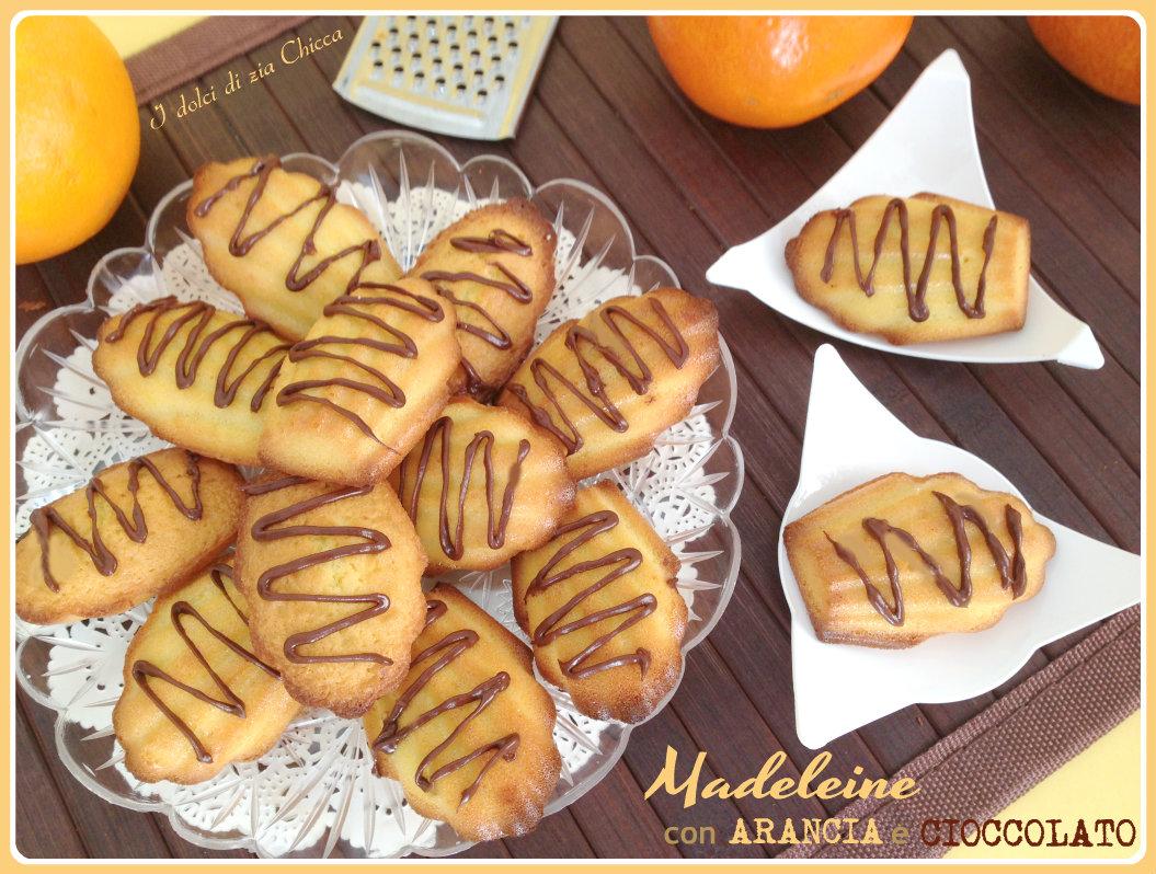Madeleine arancia e cioccolato