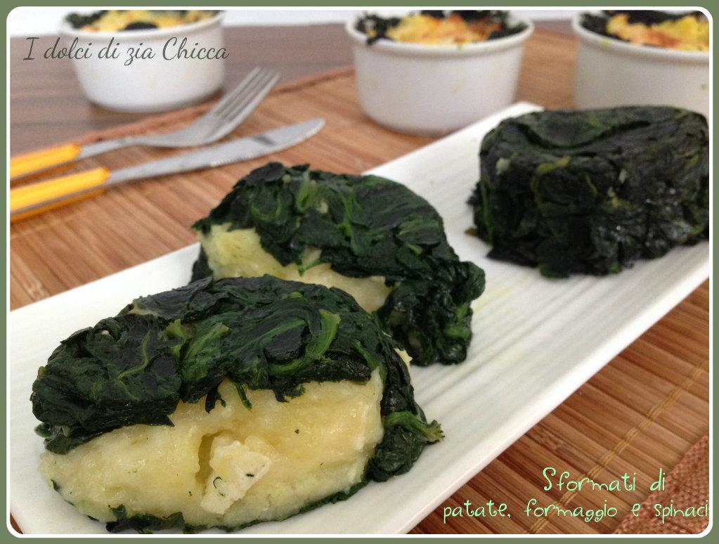 Sformati di patate, formaggio e spinaci