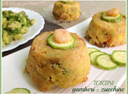 Tortini di gamberi e zucchine