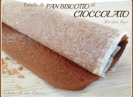 Rotolo di pan biscotto al cioccolato, ricetta base