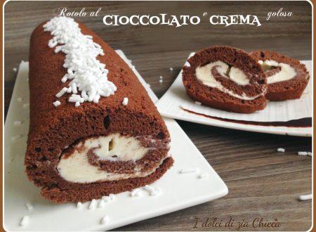 Rotolo al cioccolato e crema golosa