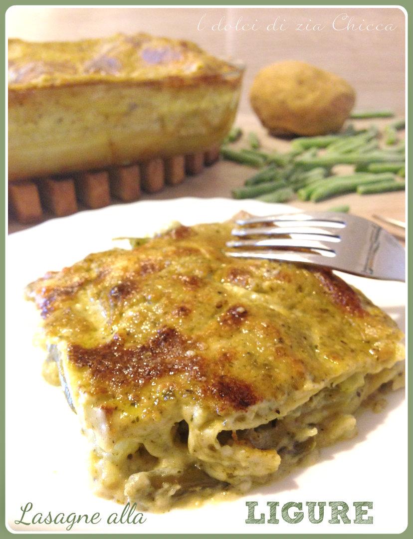 Lasagne con pesto, patate e fagiolini Liguri