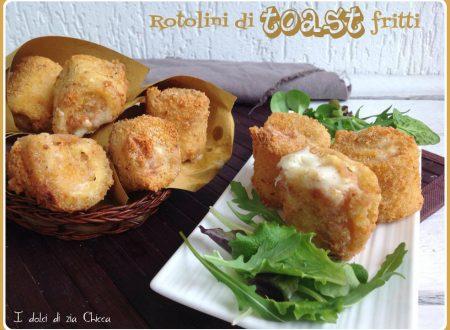 Rotolini di toast fritti