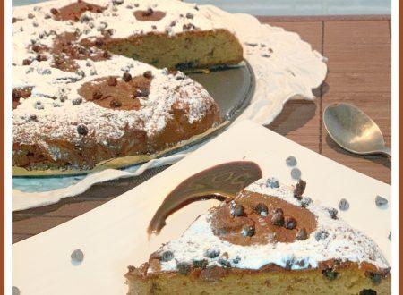 Torta con farina di castagne, ricotta e cioccolato