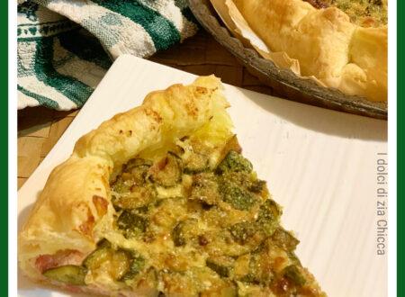 Torta salata zucchine, prosciutto e formaggio