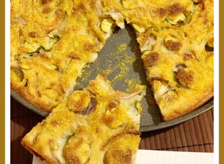 Croccantella con zucchine, cipolle e fiori di zucca