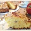 Torta di mele, nocciole e uvetta