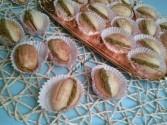 Waffel noci con nutella e granella di pistacchio
