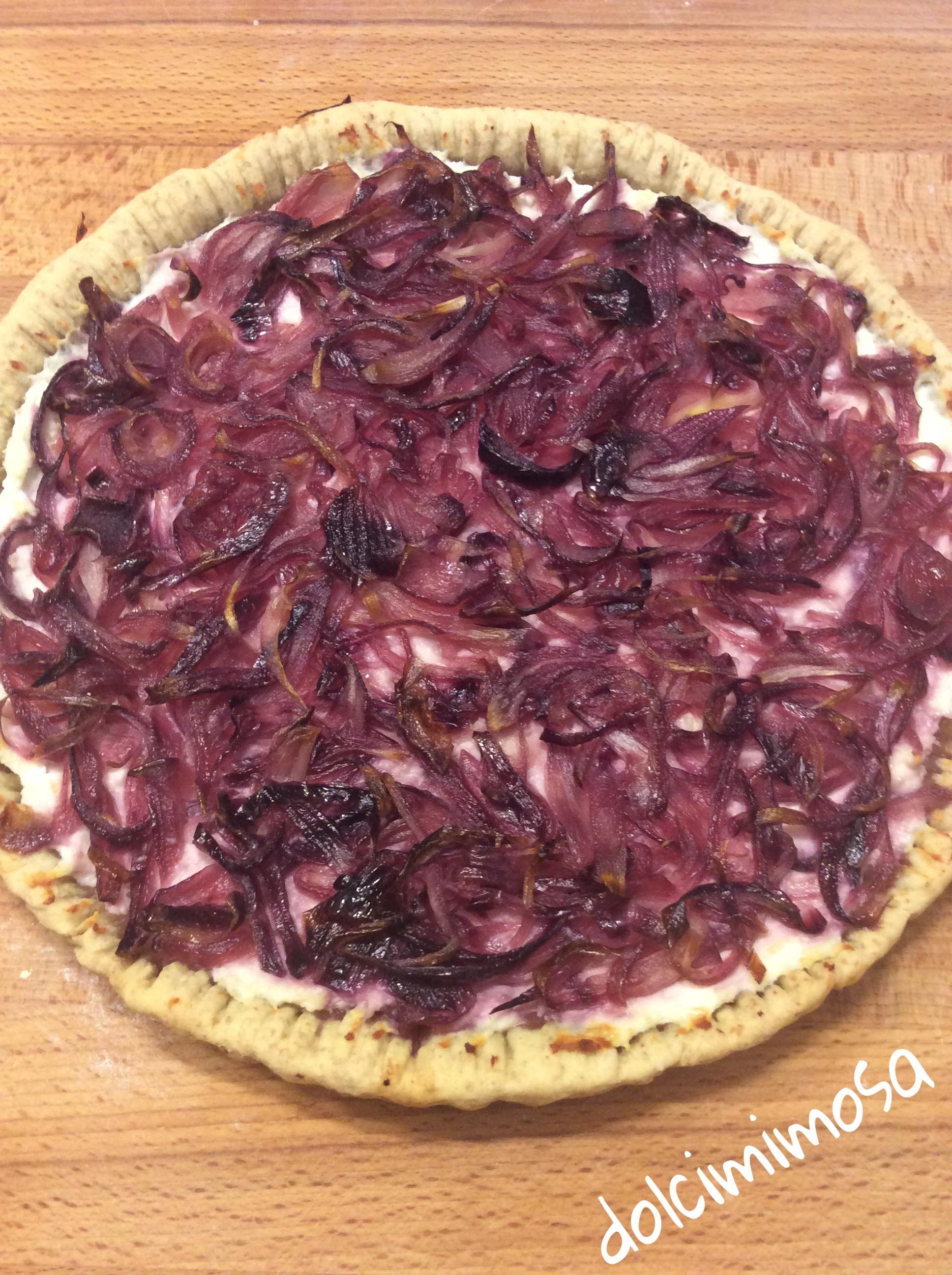 Crostata salata di cipolle rosse ricetta di fatto in for Gnocchi di ricotta fatto in casa da benedetta