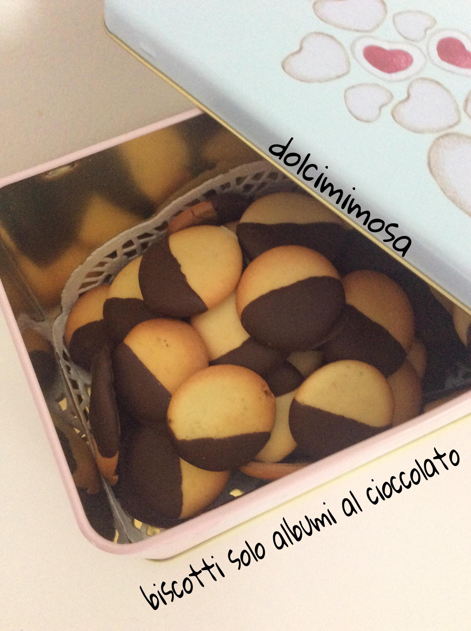 Biscotti solo albumi al cioccolato