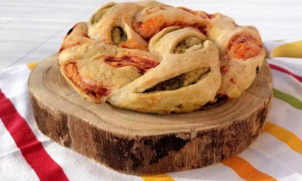 Pagnotta intreccio al pesto e pomodoro – senza glutine