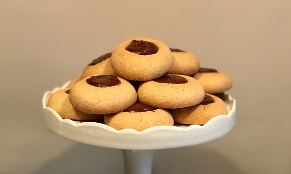 Biscotti allo zenzero con cioccolato fondente