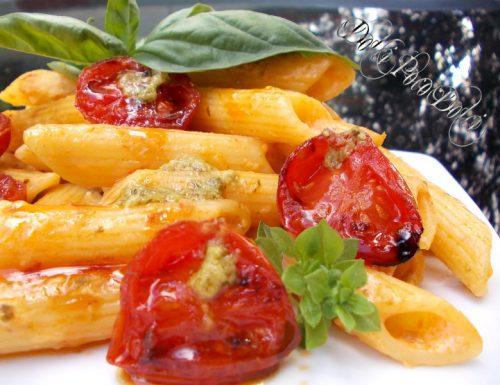 Pasta con pesto e pomodorini ricetta primo veloce