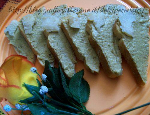 pane con crema di pomodori verdi al parmigiano (tempo 15 minuti)
