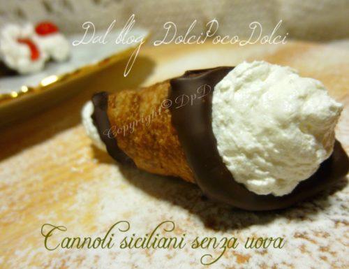 Cannoli siciliani senza uova