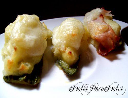 Zucchine con mozzarella e patate