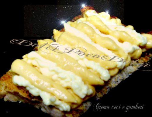 Crema ceci e gamberi per crostini