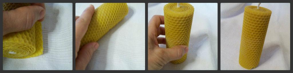 Candela in cera d 39 api lavori fai da te giallo zafferano - Cera d api per legno esterno ...