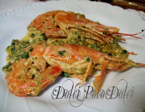 Gamberoni in padella ricetta di pesce