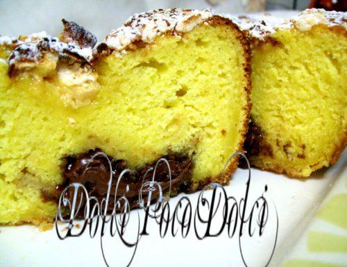 Plum cake colazione con meringhe