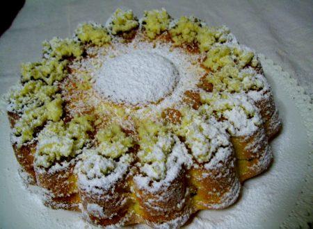 Torta mimosa miele e frutta