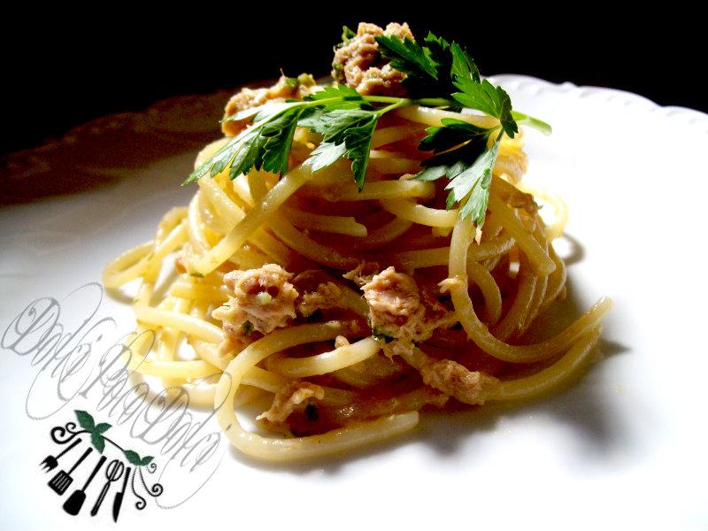 Ricetta Pasta tonno e prezzemolo 03