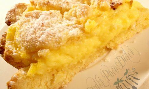 Crostata con crema pasticcera ricetta dolce