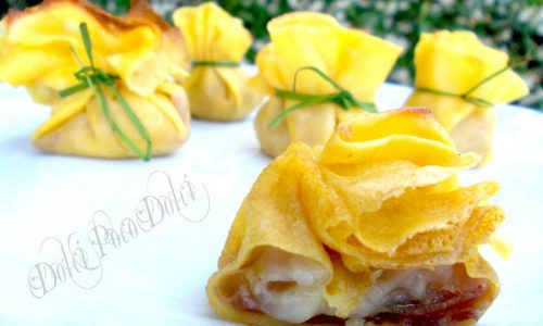 Saccottini di crepes salate ricetta primi