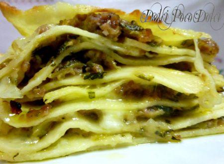 Lasagna zucchine e salsiccia