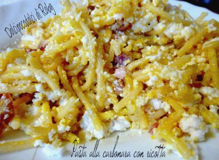 Pasta alla carbonara ricetta con ricotta
