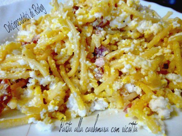 Pasta alla carbonara ricetta con ricotta di Dolcipocodolci