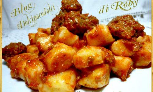 Gnocchi ricetta con purè di patate