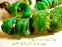 Stelle filanti dolci di carnevale