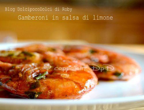 Gamberoni in salsa di limone ricetta veloce