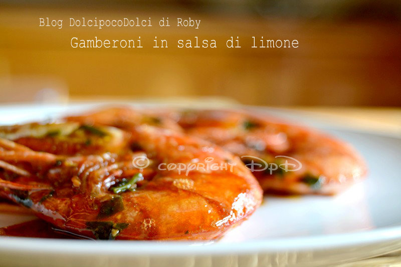 Gamberoni in salsa di limone