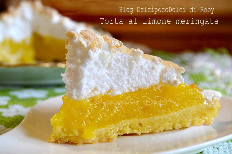 Lemon meringue pie torta al limone meringata