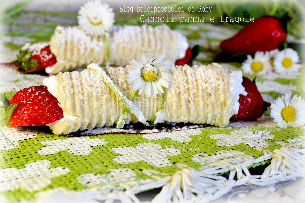 Cannoli panna e fragole 12