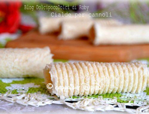 Cialde per cannoli ricetta veloce