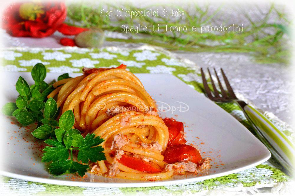 Spaghetti tonno e pomodorini 02