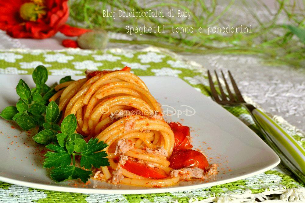 Spaghetti tonno e pomodorini 4
