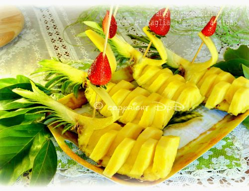Ananas cigno come si taglia in 5 minuti