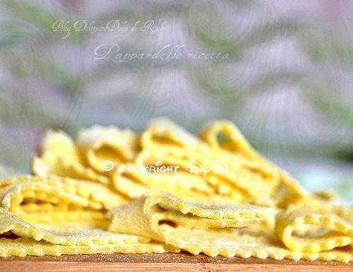Pappardelle ricetta base con tuorli