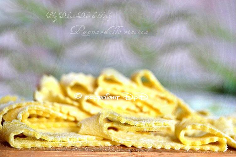 Pappardelle ricetta con tuorli