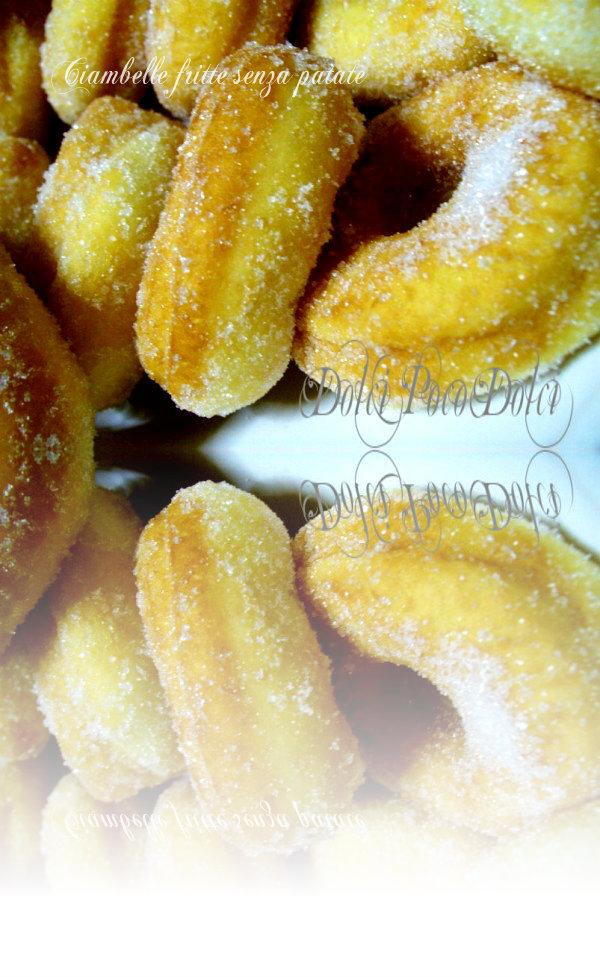 Ciambelle fritte senza patate