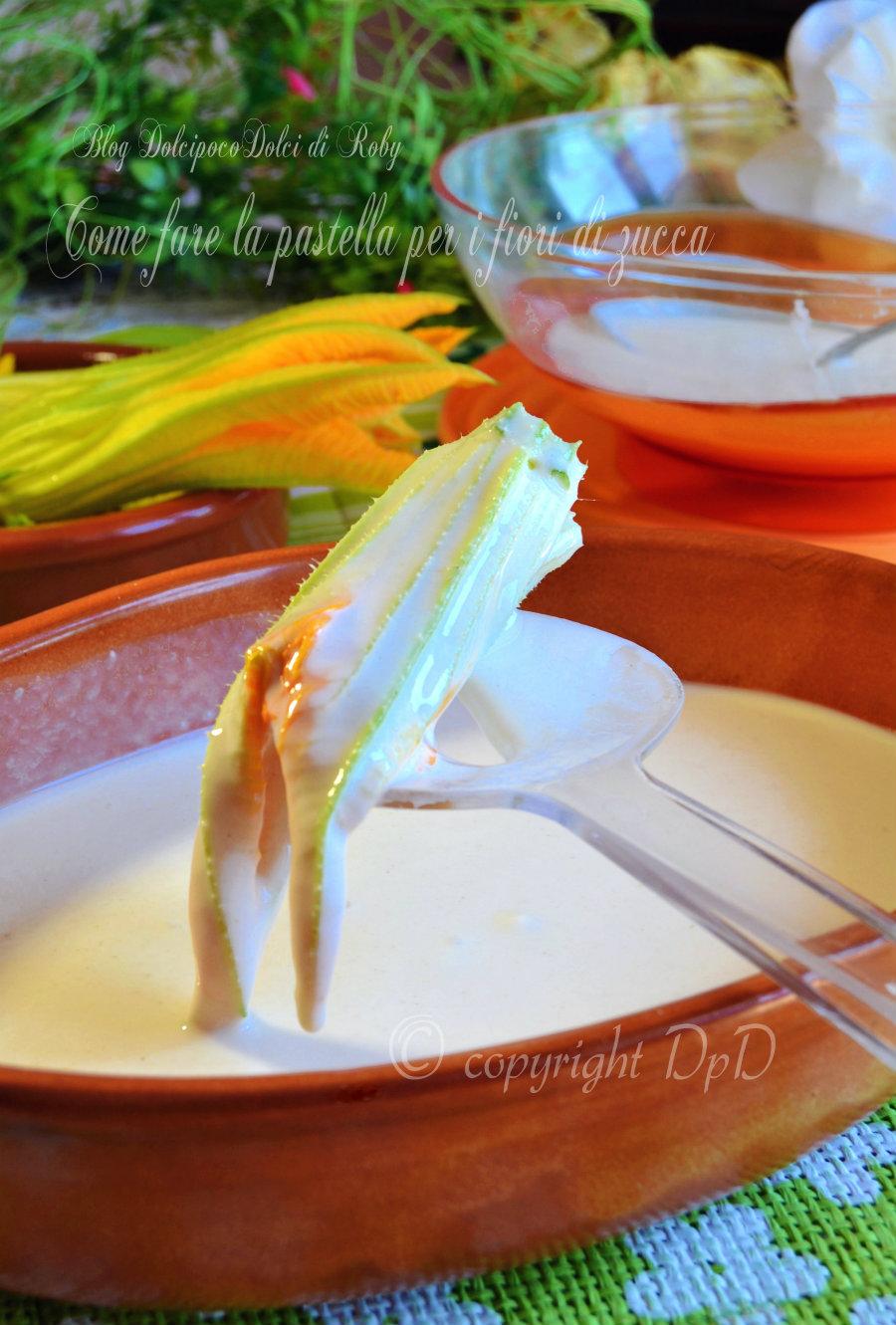Come fare la pastella per i fiori di zucc1
